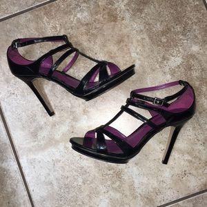 Nine West Platform Strappy Heels Patent Leather